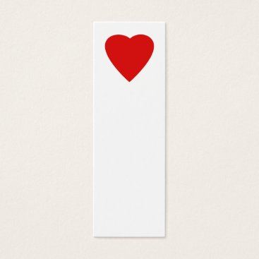 Valentines Themed Red and White Love Heart Design. Mini Business Card