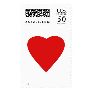 Red and White Love Heart Design. Postage