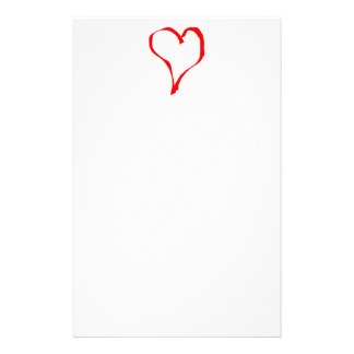 Red and White Love Heart Design. Stationery