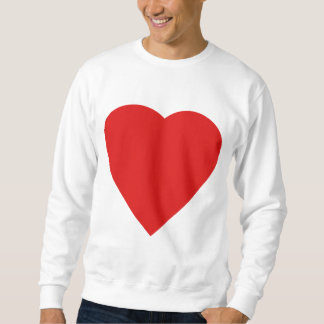 Red and White Love Heart Design. Sweatshirt