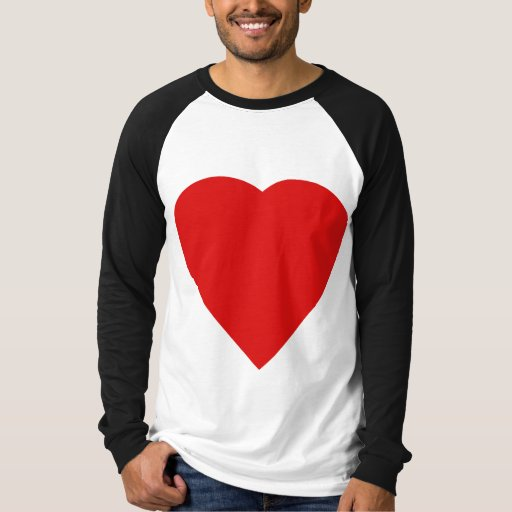 Red and White Love Heart Design. T-Shirt