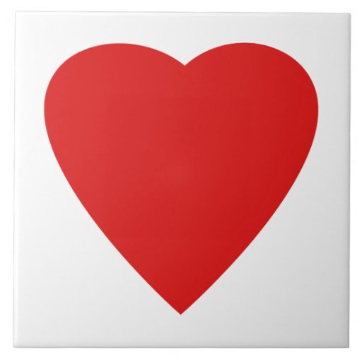 Red and White Love Heart Design. Tiles