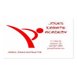 Red and White Martial Arts Business Card