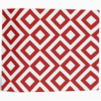 Red and White Meander Binder
