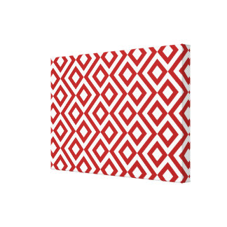 Red and White Meander Canvas Print