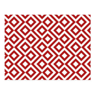 Red and White Meander Postcards