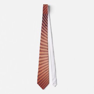 Red and white Metal roof Neck Tie