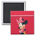 Red and White Minnie 4 2 Inch Square Magnet