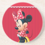 Red and White Minnie 4 Beverage Coasters