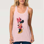Red and White Minnie 4 Flowy Racerback Tank Top