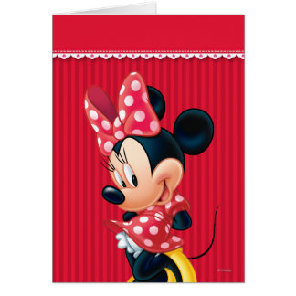 Red and White Minnie 4 Greeting Card