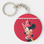 Red and White Minnie 4 Key Chain