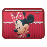 Red and White Minnie 4 MacBook Sleeve