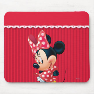 Red and White Minnie 4 Mousepad