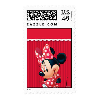 Red and White Minnie 4 Stamps