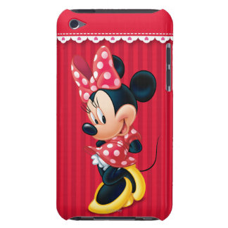 Red and White Minnie Shy iPod Touch Cases