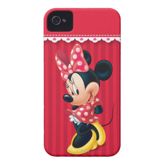 Red and White Minnie Shy iPhone 4 Covers