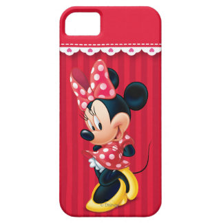 Red and White Minnie Shy iPhone 5 Cover