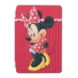 Red and White Minnie Shy iPad Mini Cover