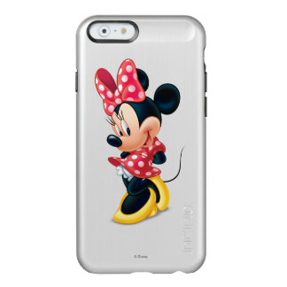Red and White Minnie Shy Incipio Feather® Shine iPhone 6 Case