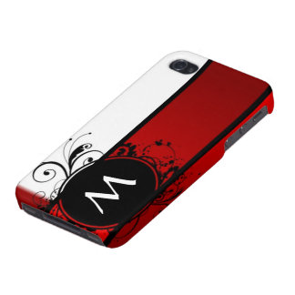 Red and white monogram iPhone 4/4S covers