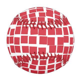 Red and White Mosaic Baseball