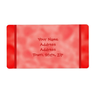 Red and White Mottled Labels