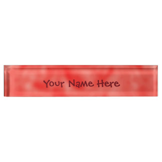 Red and White Mottled Name Plate