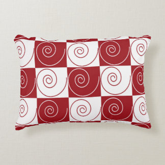 Red and White Mouse Tails Decorative Pillow