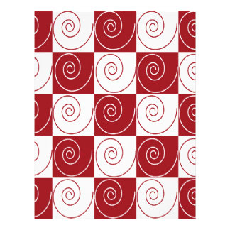 Red and White Mouse Tails Letterhead
