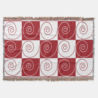 Red and White Mouse Tails Throw