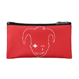 Red And White MTJ Cosmetic Bag