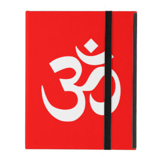 Red and White Om Symbol iPad Cover