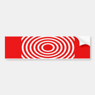 Red and White Optical Illusion Bumper Sticker