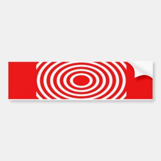 Red and White Optical Illusion Bumper Sticker