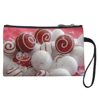 Red and White Ornaments Wristlets
