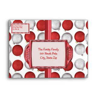Red and White Ornaments Envelope