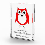 Red And White Owl Award
