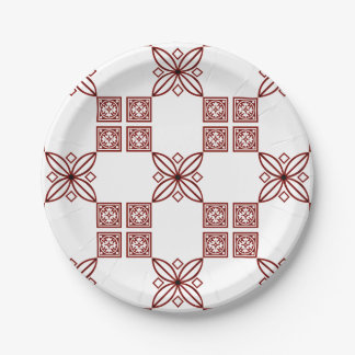 Red and White Paper Plates