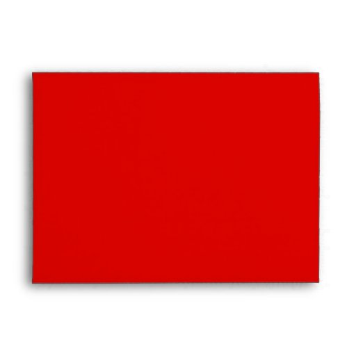 red and white party invite envelope