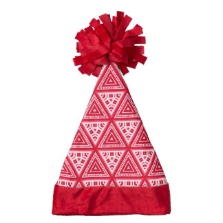 Red and White Pattern 04 Santa Hat