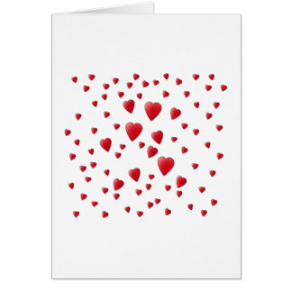 Red and White Pattern of Love Hearts. Card