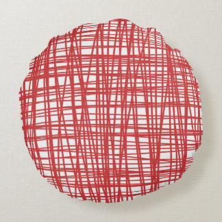 Red and white pattern pillow