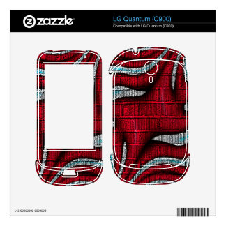 Red and white pattern decal for the LG quantum