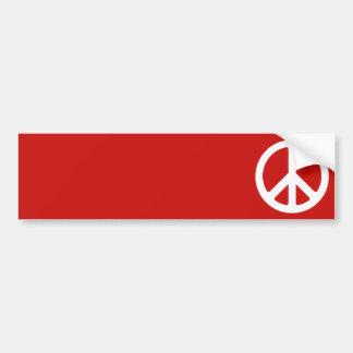Red and White Peace Symbol Bumper Sticker