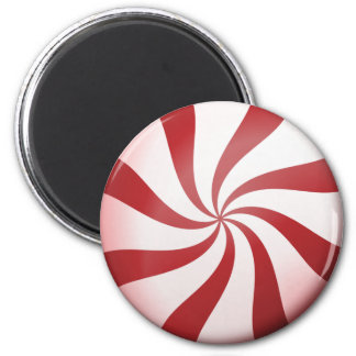 Red and White Peppermint Candy Magnet