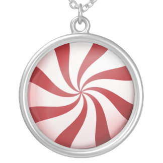 Red and White Peppermint Candy Necklace