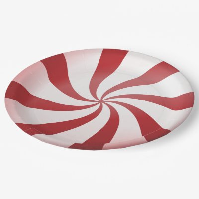 Red and White Peppermint Candy Christmas Cartoon Paper Plate | Zazzle.com  sc 1 st  Zazzle & Red and White Peppermint Candy Christmas Cartoon Paper Plate ...