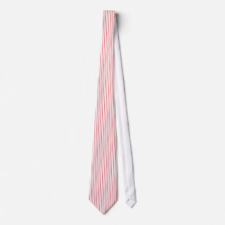 Red and White Pinstripe Tie