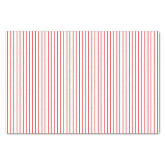 Red and White Pinstripe Tissue Paper
